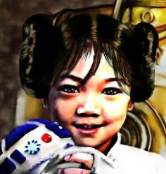 Sharing for @ryunekoartz. This is a #StarWars themed #Portrait practice they just got done. They used @boy_pakorn and his little #sister and made them into star wars characters. This is the close up of the little sister as #PrincessLeia with a #stuffie #r2d2. They take commissions for #Portraiture. They have some #Cosplay examples on their site RyuNeko-Artz.com.  So Cute!  I will post the whole image too.  #Artist #newart #hairbuns #child #cutegirl #mywm #thai #writer #author #friends…
