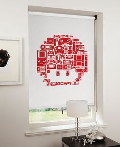 8-Bit Video Game Inspired Roller Shades