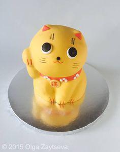 How to make a Maneki cat cake tutorial. - CakesDecor