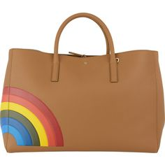 BORSA RAINBOW Anya Hindmarch Accessori BRUNAROSSO.COM ($870) ❤ liked on Polyvore featuring accessories, bags and anya hindmarch