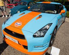 Nissan GT-R in Gulf Livery