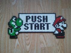 Mario Push Start perler beads by Katarina Svensson