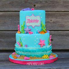 Under the sea cake, mermaid cake, little mermaid cake, kids birthday cakes, cakes girls, sea shells cake Mama Nenas Cakes cake