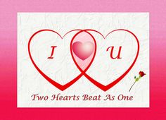 Two Hearts, One Heartbeat Greeting Card