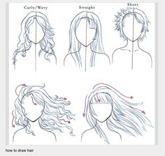 How to draw hair.....