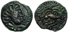 Bronze Sénon, 52 av JC. - BRENNOS.- BRENNOS. 2) BIOGRAPHIE. 2.4: VICTOIRE FINALE DE CAMILLE, 3: Dans la version de Plutarque, les Romains sont également victorieux sur le chemin de GABIES, quoique de manière moins complète. Brennos et les tribus gauloises sont donc forcés de se replier vers le nord de l'Italie, où le chef gaulois s'éteindra.