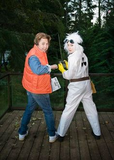 Our Back To The Future Halloween Costumes - Marty McFly & Doc Brown | ** HAPPINESS IS ** | Bloglovin