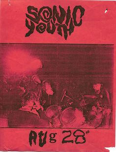 Sonic Youth playing in my bday Rock Posters, Band Posters, Concert Posters, Movie Posters, Poster Wall, Poster Prints, Punk Poster, Gig Poster, Arte Punk