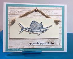 Stampin Up! From land to sea stamp set Father's Day card.