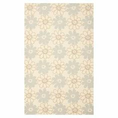Add a spring to your step with this eye-catching rug, showcasing a contemporary floral motif and an on-trend palette.  Product: RugConstruction Material: PolypropyleneColor: Ivory and light blueFeatures:  Suitable for indoor and outdoor useHand-hooked Note: Please be aware that actual colors may vary from those shown on your screen. Accent rugs may also not show the entire pattern that the corresponding area rugs have.