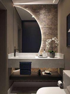 Washroom Design, Toilet Design, Bathroom Design Luxury, Modern Bathroom Design, Modern Luxury Bathroom, Modern Bathrooms, Home Room Design, Interior Design Living Room, Washbasin Design