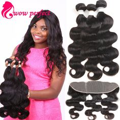 Brazilian Body Wave With Closure 13x4 Ear To Ear Lace Frontal Closure With Bundles Grade 7A Brazilian Virgin Hair With Closure