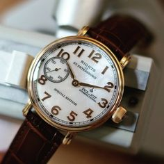 Nights of St Petersburg by Poljot International. That iridescent sheen of the Mother of Pearl dial is simply gorgeous...