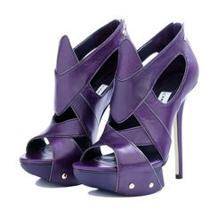 Camilla Skovgaard purple platform heels.