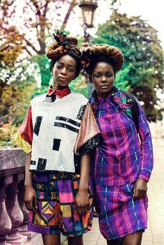 """Zion Tribe"" | Models Aliane Uwimana Gatabazi and Rachelle Mongita | photographed by Maëlle André for MOTEL Magazine"