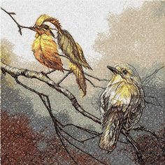 Autumn birds photo stitch free embroidery design - Photo stitch embroidery - Machine embroidery forum