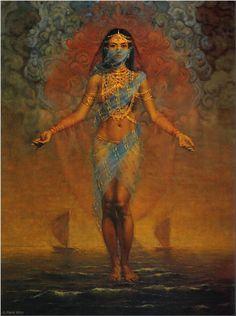 The Pearl Fishers, rene milot. Gypsy Arab bellydancer harem fantasy art