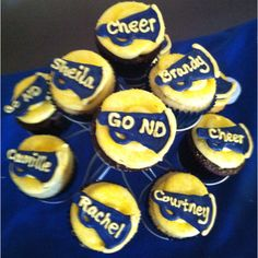 Cheerleading Cupcakes