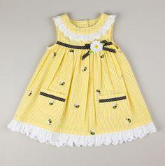 Samara Samantha Says, Infant Bumblebee and Eyelet Dress
