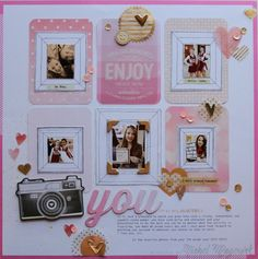 Awesome layout by Nichol  for Simon Says Stamp using project life supplies for a layout.  April 2014