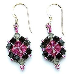 Beaded+Earring+Patterns | Crystal Beadwoven ... by BeadSphere | Jewelry Pattern