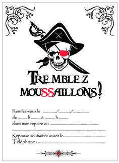 Pour votre enfant, un anniversaire de pirate ne se conçoit pas sans une bonne vieille tête de mort. Voilà notre carton d'invitation gratuit, à imprimer !