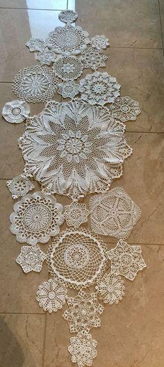 Imagini pentru caminhos de BHmesa em croche com graficos