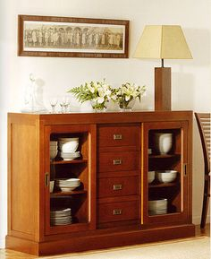 Aparadores y Buffets para Comedor Home Decor Furniture, Dining Furniture, Furniture Makeover, Diy Home Decor, Sideboard Decor, Cabinet Decor, Crockery Cabinet, Muebles Living, Dining Room Design