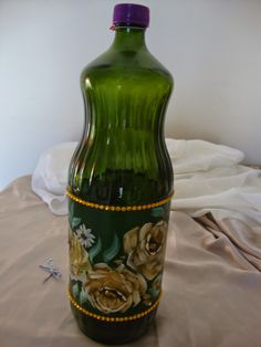 Decoupage, Bottle Crafts, Hand Painted, Activities, Awesome, Painting, Design, Home Decor, Pasta