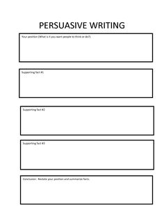 Free Graphic Organizers for Teaching Writing  Sample Persuasive Essay Grade     lbartman com