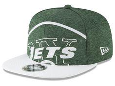 timeless design 7b3ca f08e2 New York Jets New Era NFL Over Sized Laser Cut 9FIFTY Snapback Cap