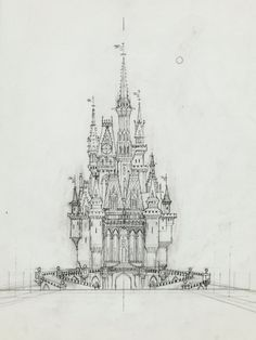 Elmer Plummer - Disneyland Castle concept.