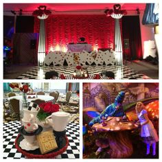 Pictures of alice in wonderland themed sweet 16 - Casino Theme Parties, Casino Party, Party Themes, Party Ideas, Mad Hatter Party, Mad Hatter Tea, Alice In Wonderland Tea Party, Party Centerpieces, Sweet 16