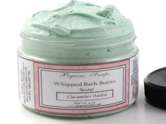 Whipped Bath Butter Soap Cucumber Melon