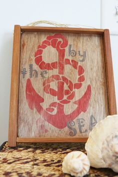 Reclaimed Wood Sign--by the SEA