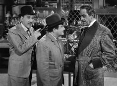 Bud Abbott, Lou Costello and Boris Karloff in Abbott and Costello Meet Dr. Jekyll and Mr. Hyde (1953)