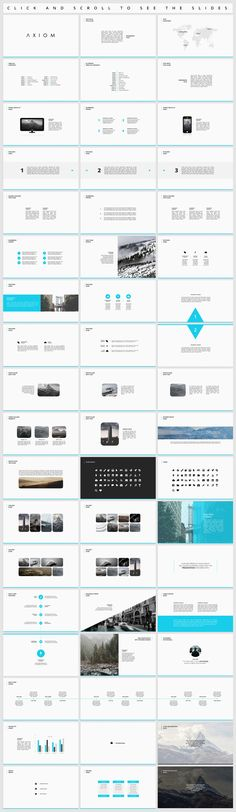 Axiom - Simple Presentation by Tugcu Design Co. on @creativemarket
