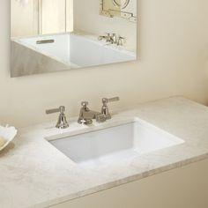 Superbe Kohler Verticyl Impressions Ceramic Rectangular Undermount Bathroom Sink  With Overflow Sink