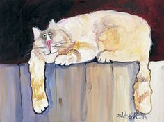 Nedobeck's Don't Fence Me In - Lithographs of Watercolor Cat Art