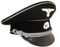 7722edd76a3 German Allgemeine Officer Peaked Cap - Cotton Piping German Army