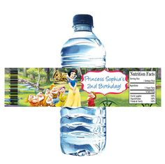 ★★★Thanks for stopping by★★★  Snow #White #Digital or Printed #water #bottle wrappers. Choose which option you would like in the PRINTING OPTIONS DROP DOWN below the quantity. ... #party #favors #digital #wrapper #sticker #birthday #labels #disney #snow #white #princess