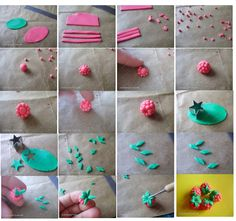 How to make Raspberries in Fimo Clay