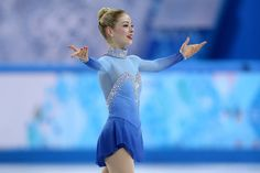 Gracie Gold of the United States competes in the Team Ladies Free Skating during day one of the Sochi 2014 Winter Olympics at Iceberg Skating Palace onon February 2014 in Sochi, Russia. (Photo by Matthew Stockman/Getty Images) Figure Skating Quotes, Figure Skating Costumes, Figure Skating Dresses, Gracie Gold, Winter Olympic Games, Winter Olympics, Olympic Ice Skating, Roller Skating, Ashley Wagner