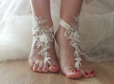 SANDALS // beach shoes,bridal sandals, lariat sandals, wedding bridal, bellydance, gothic, wedding shoes, summer wear, handmade