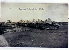 grupo de tanques de infantería de Melilla la primera unidad de blindados española en Africa y que intervinieron en la guerra del Rif parece ser que con poca fortuna por un uso inadecuado de los mismos.