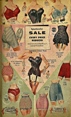 """...looks like '50's-60's women's """"foundation garments""""... aren't you glad we have a totally different set of things we wear to torture ourselves with. hmmm... spanx! :-)"""
