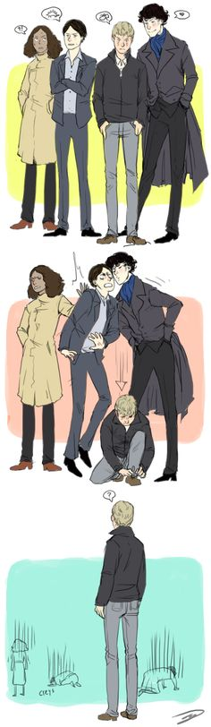 "I can just picture Sherlock screaming, ""My brain cells are melting. Their melting!"" And then sobbing."