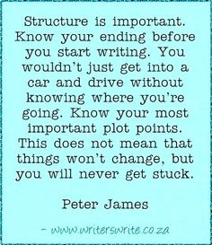 Peter James—Structuring Stories.