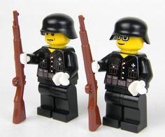 custom German WW2 wehrmacht Soldiers made with real LEGO(R) Black uniform 2 #LEGO