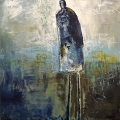 """Jeanne Bessette at Mirada Fine Art, 'For All Who Dare,'36"""" x 36"""", Original Acrylic/Mixed Media on Canvas"""